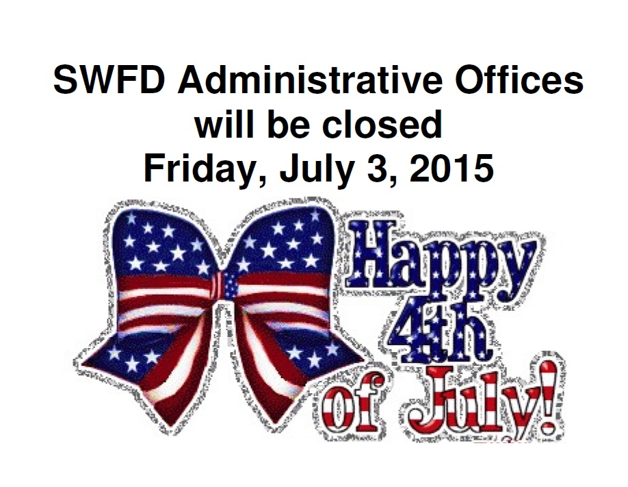Offices closed for the 4th of July.