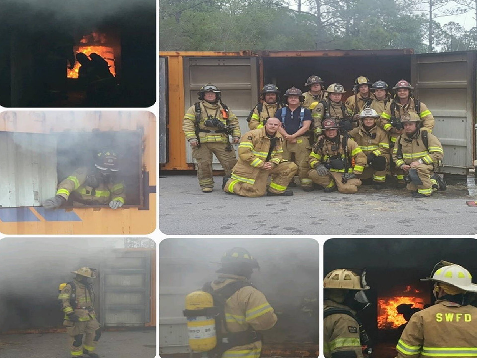 SWFD Fire Training collage