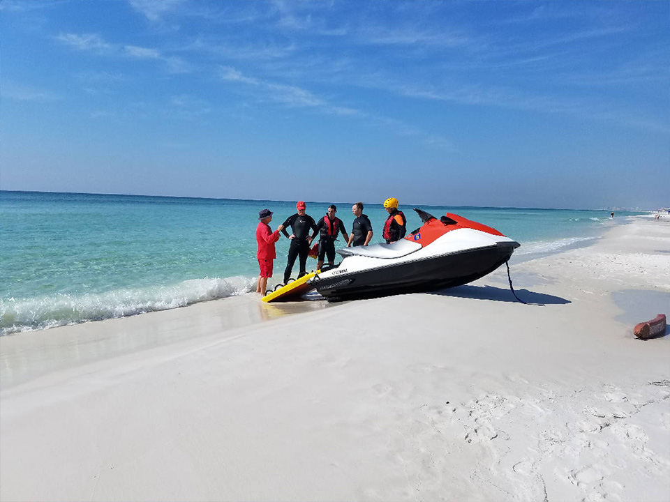 Preparing the wave runner for PWC Training on the Gulf